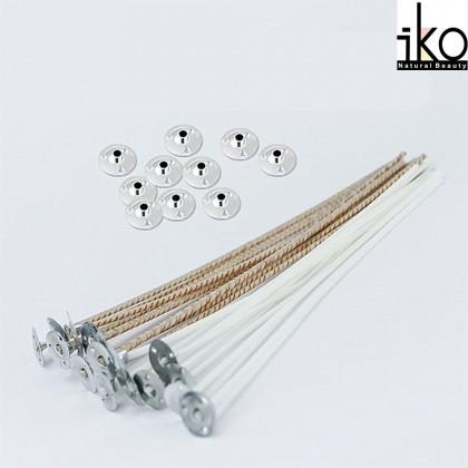 Eco Candle Wick / Candlewick 100% Cotton 15cm - 10pcs