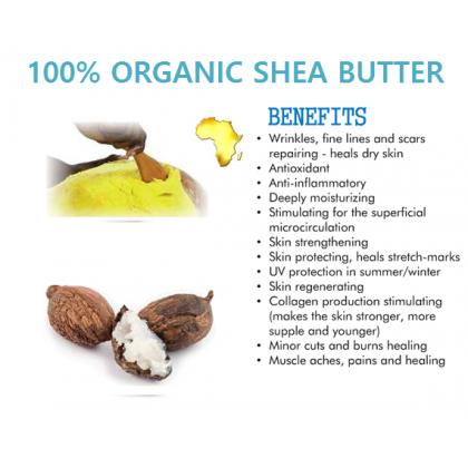 Certified Pure Organic Shea Butter Refined 500g