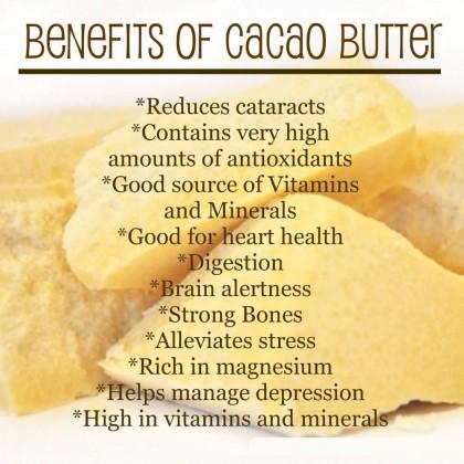 Pure Raw Cocoa Butter Unrefined - Food Grade 1kg