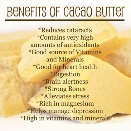 Pure Raw Cocoa Butter Unrefined - Food Grade 500g