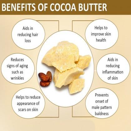 Pure Raw Cocoa Butter Unrefined - Food Grade 5kg